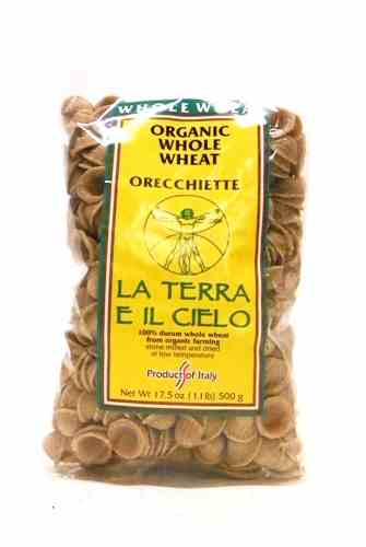Authentic Italian Organic Whole Wheat Orecchiette Pasta 500g
