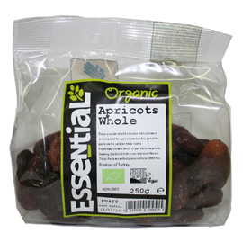 Essential Organic Whole Unsulphured Apricots 250g