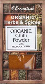 Essential Organic Chilli Powder 25g
