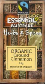 Essential Fair Trade Organic Ground Cinnamon25g