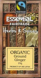 Essential Fair Trade Organic Ground Ginger 25g