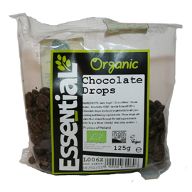 Essential Organic Chocolate Drops 125g