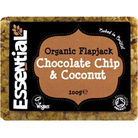 Essential Organic  Chocolate Chip & Coconut Flapjack 100g