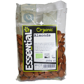 Essential Organic Whole Almonds 250g