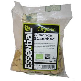 Essential Organic Blanched Almonds 125g