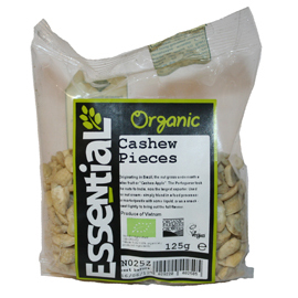 Essential Organic Cashew Pieces 125g