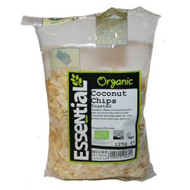Essential Organic Toasted Chip Coconut 125g