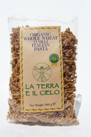 Authentic Italian  Organic Wholewheat Fusilli