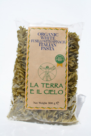 Authentic Italian  Organic Fusilli with Spinach