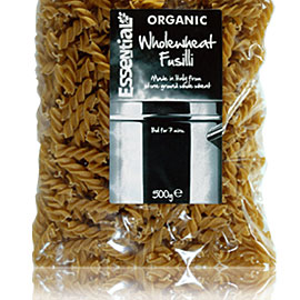 Essential Organic Wholewheat Fusilli 500g