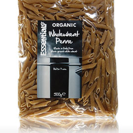 Essential Organic Wholewheat Penne 500g