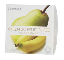 Organic Pear & Banana Puree  200g