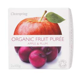 Organic Apple & PlumPuree 200g