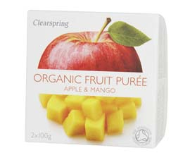 Organic Apple & Mango Puree 200g
