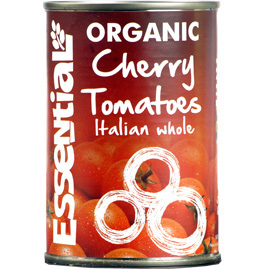 Essential Organic Tinned Cherry Tomatoes. 400g