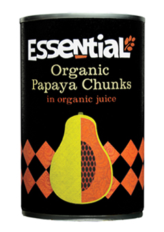 Essential Organic  Papaya chunks in juice 400g