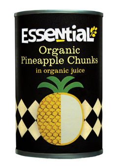 Essential Organic  Pineapple chunks in juice 400g
