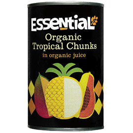 Essential Organic  Tropical Fruit Cocktail 400g