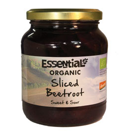 Essential Organic  Sliced Beetroot 350g